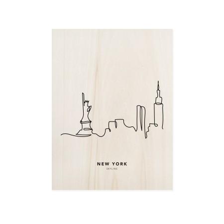 Cuadro de madera New York Skyline