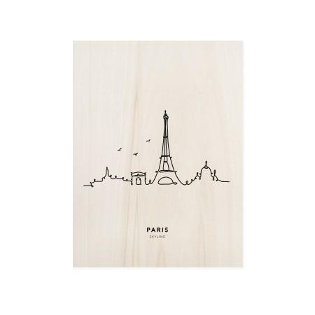 Cuadro de madera Paris Skyline