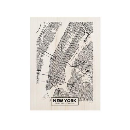 Cuadro de madera New York