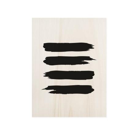 Cuadro de madera Abstract Lines