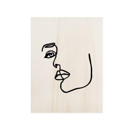Cuadro de madera Face Mood I