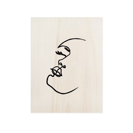 Cuadro de madera Face Mood II