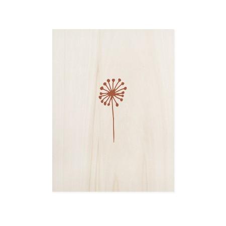 Cuadro de madera Dandelion