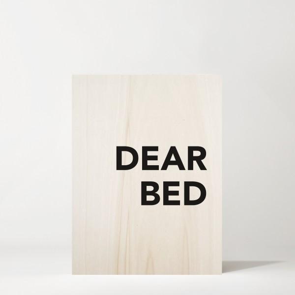 Cuadro de madera Dear Bed