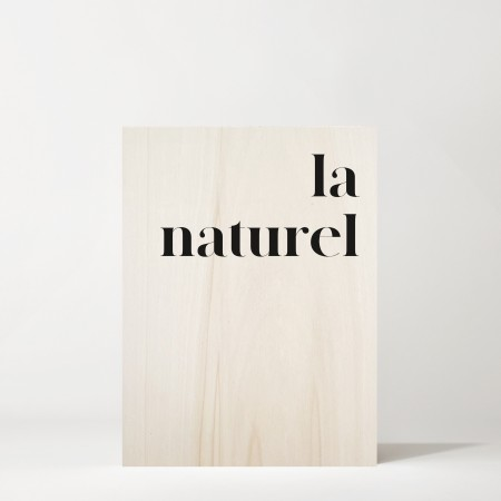 Cuadro de madera La naturele