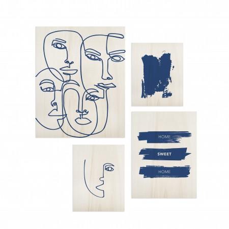 Pack de cuadros Classic Blue