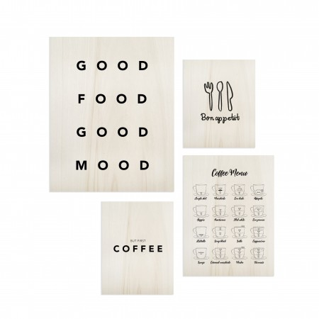 Pack de cuadros Food