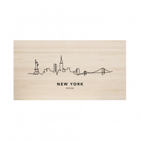 Cabecero natural New York Skyline
