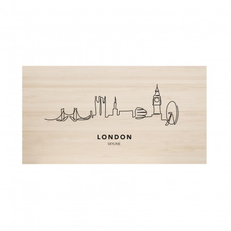 Cabecero natural London Skyline