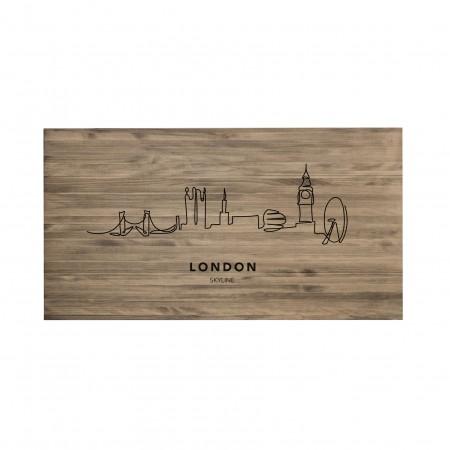 Cabecero envejecido London Skyline
