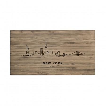 Cabecero envejecido New York Skyline