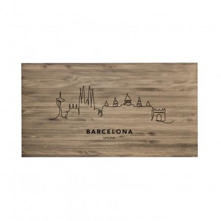 Cabecero envejecido Barcelona Skyline