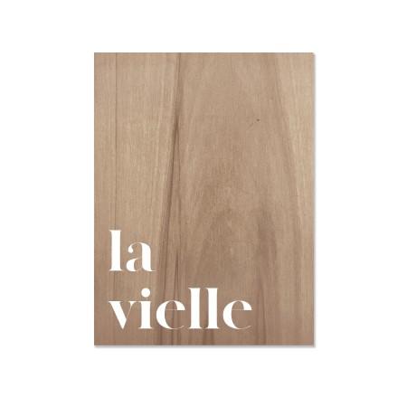 Cuadro de madera La vielle