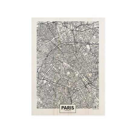 Cuadro de madera Paris