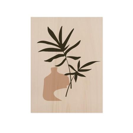 Cuadro de madera Palm Draw