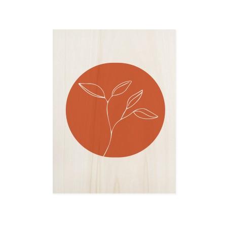 Cuadro de madera Flower Terracotta