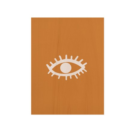 Cuadro de madera Eye Yellow