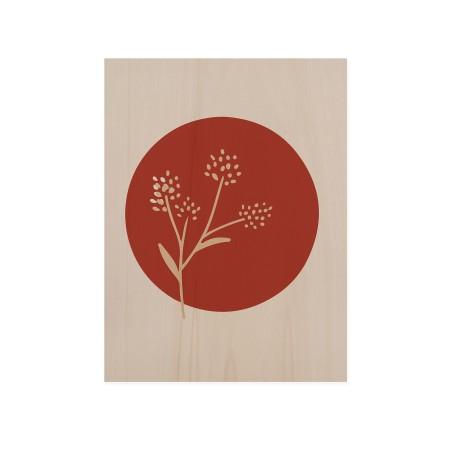 Cuadro de madera Flower Terracotta II