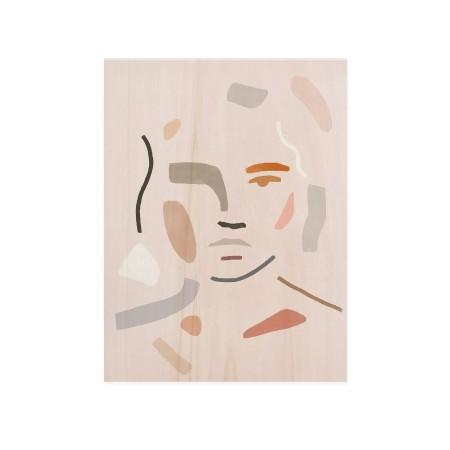 Cuadro de madera Abstract Face