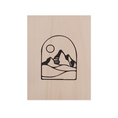 Cuadro de madera Mountain