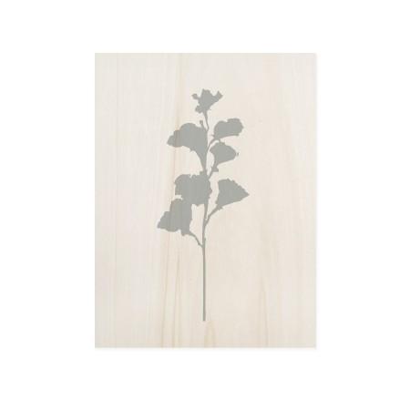 Cuadro de madera Blue Plant I