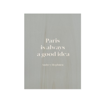 Cuadro de madera Paris as a Good Idea