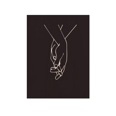 Cuadro de madera Black Hands