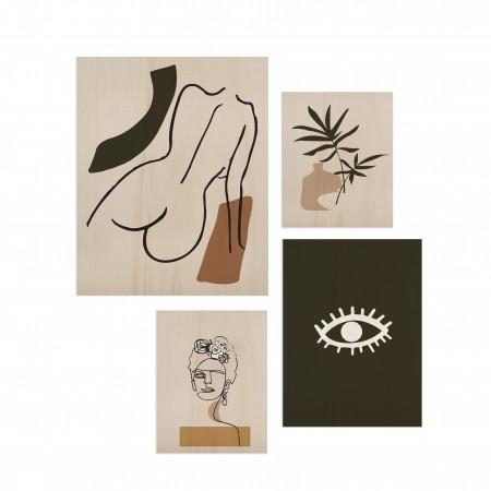 Pack de 4 cuadros Portrait