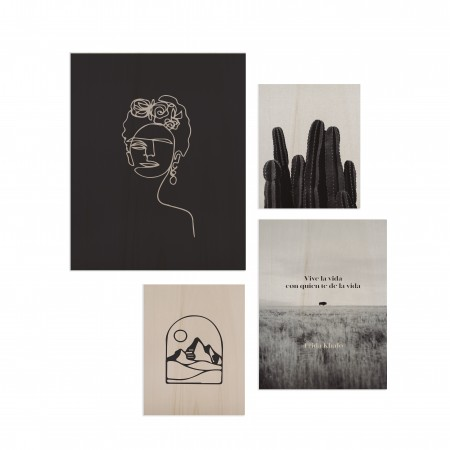 Pack de 4 cuadros Frida