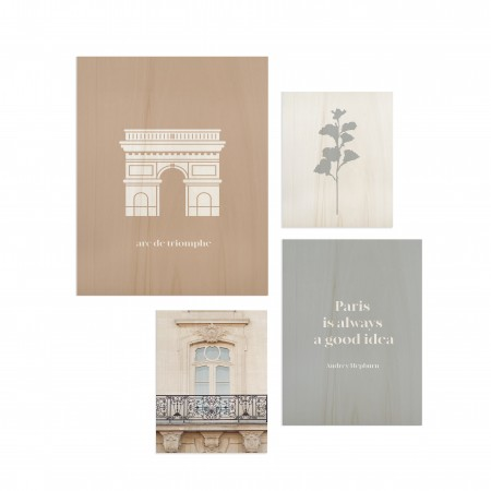 Pack de 4 cuadros Paris Good idea