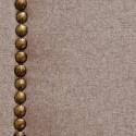Cabecero tapizado Nils de poliéster marrón